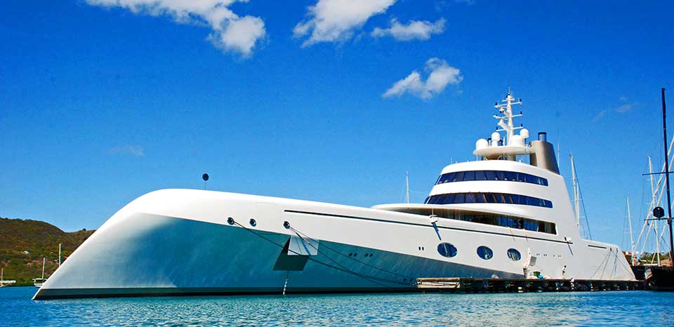Superyacht A at Yacht Club marina
